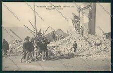 L'Aquila Avezzano Terremoto cartolina QQ3884