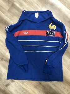 DOMINIQUE BATHENAY FRANCE VINTAGE 80s ADIDAS SOCCER JERSEY YOUTH MEDIUM