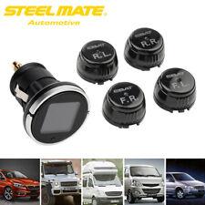 Steelmate Wireless Car TPMS LCD Tire Pressure Monitor System w/4 External Sensor