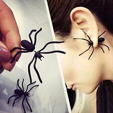 Fashion Boy Girl Funny Weird Big Black Spider Ear Stud Punk Style Earring