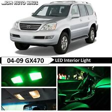 Green Interior LED Light Bulb Replacement Package Kit Fits Lexus GX470 2003-2009
