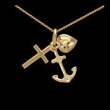Echte Edelmetall-Halsketten & -Anhänger ohne Steine im Collier-Stil mit Glück für Damen