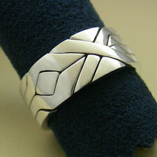 (SOLIDER) Unique Puzzle Rings - Sterling Silver - Any Size