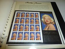 Marilyn Monroe Briefmarken Sammlung Vordruck-Album Norma Jean Baker USA
