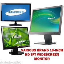 """19"""" Pollici Piatto LCD Monitor TFT PC Computer 16:10 Schermo Display Vari Nuovo"""
