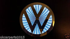 WHITE Logo VW Volkswagen Badge Light Led Emblem 3d shel fAdhesive