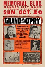 Country: Willie Nelson & Tex Ritter & Others at Kansas City Concert Poster 1961