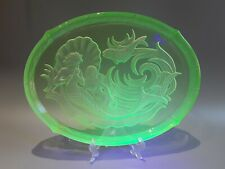 Walther & sohne uranium glass tray nymphen.