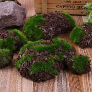 6 Pcs Foam Moss Stone Fake Rock Artificial Flower DIY Crafts Home Garden Decor