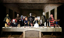 Framed Print - The Last Supper of Horror (Alfred Hitchcock Gothic Picture Art)