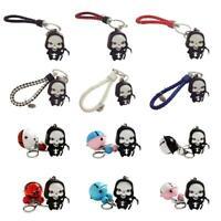 Halloween Death Skull LED Light Scary Sound Keyring Key Chain Keychain New