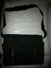 KENZO  PARIS black shoulder bag, 2 front pockets strap through buckle fastened.