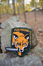 FOXHOUND Patch Metal Gear Solid Cosplay Solid Snake Big Boss Iron on Patch