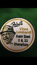 LEGEND VINCE LOMBARDI PABST BEER/SUPERBOWL PATCH,GREEN BAY PACKERS,