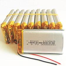 10 x 3.7V 3000mAh 103565 Lipo polymer Battery For DVD Mobile phone Camera Laptop