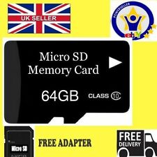 64GB MICRO SD MEMORY CARD CLASSE 10 FLASH MEMORY SDHC per cellulari e Tablet