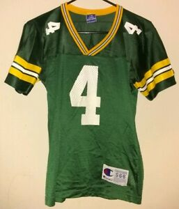 VTG Champion Green Bay Packers #4 Brett Favre Boys Youth Jersey Size Small 6-8