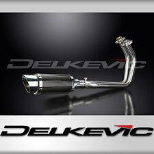"Kawasaki Vulcan S Full 2-1 Exhaust 8"" Mini Carbon Fiber Round Muffler 15 16 17"