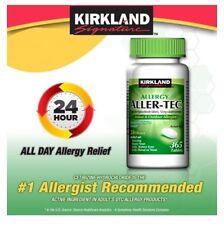 Kirkland Aller-Tec Cetirizine HCL 10 mg/Antihistamine 365 Tablets  NO SALES TAX 