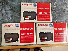 Chroma Cast 767-1 Red Postage Ribbon Cartridge For Pitney Bowes - Lot of 3