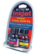 2 x Jet Tec R29 Premium UK Ink Cyan, Magenta Yellow Ink for Canon Cartridges