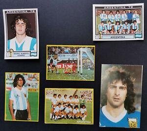 1982 Mundial Mario Kempes El Toro El Matador Argentina Lot + Rookie Maradona