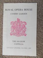 Royal Opera House Covent Garden London Programme 1958 The Shadow Coppelia