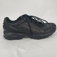 Reebok DMX Mens Sneakers Sz 9 Black Leather Lace Up Walking Shoes Athletic **