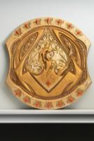 Skyrim The Elder Scrolls IV Elsweyr Dragonguard Shield Replica Metallic Gold