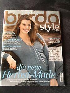 Burda plus H/W 2009 Zeitschrift Nähen