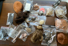 18 Doll Wig Lot Variety Of Sizes + Shoes Socks Doll Parts