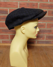 M&S Marks And Spencer Moon 100% Wool Blue Thinsulate Flat Cap Size XL