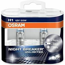12V Set of 2 OSRAM NIGHT BREAKER PLUS UNLIMITED CAR BULBS LIGHT H1 FITTINGS