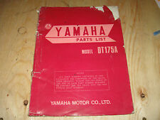 YAMAHA DT 175A  VINTAGE OEM FACTORY PARTS BOOK FREE SHIP U.S AND CANADA