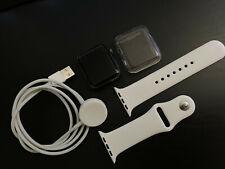 Apple Watch Series 2 42mm Aluminum Space Grey White strap Smart Watch
