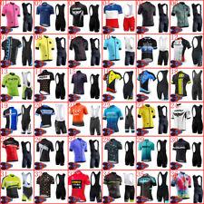Men summer cycling jersey short sleeve bike shirt bib shorts Set Bicycle Outfits