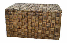 "Casa Mina 123511065 Truhe Wäschetruhe aus Wasserhyazinthe, ""Borneo"" braun 55cm"