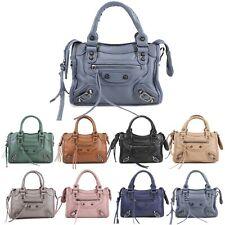 Ladies Shoulder Bag Women's Studded Handbag Tote Handles Evening Bag