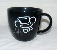 Walt Disney Parks Ceramic Mr. Mickey Groom Top Hat Black Mug Cup Bow Tie