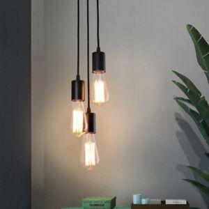 3-Head Pendant Lamp Vintage Retro Chandelier Ceiling Light Industrial DIY  E27