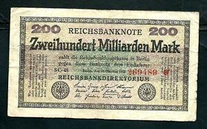 Germany (P121b) 200,000,000,000 Mark 1923