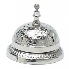 Ornate Victorian Service Desk Bell Silver Solid Brass