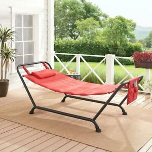 Polyester Hammock with Stand Rust-Resistant Powder Coated Steel Frame NEW
