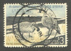HUNTING PERMIT DUCK Stamp Scott RW31 Postal cancel