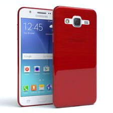 Schutz Hülle für Samsung Galaxy J5 (2015) Brushed Cover Handy Case Rot