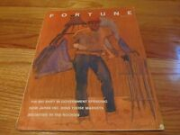 SEPTEMBER 1970 FORTUNE MAGAZINE - DANIEL SCHWARTZ ART COVER NOTED NY ARTIST
