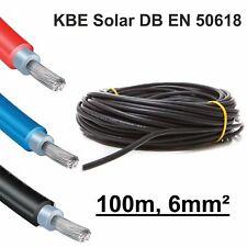 "Solarkabel 100m, 6mm² SCHWARZ, neueste Norm ""EN 50618"", KBE, Deutschland"