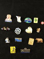 Lot of 15 Vintage Lapel Pin Tie Tac Hat Pin Cowboy riding bull longhorn horse