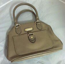 Liz Clairborne Mini Size Beige Brown Small Classic Handbag Purse Pocketbook