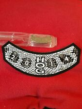 Harley Owners Group HOG 2014 Pin & Rocker Patch